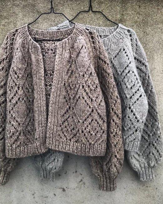 2 strikket jakker