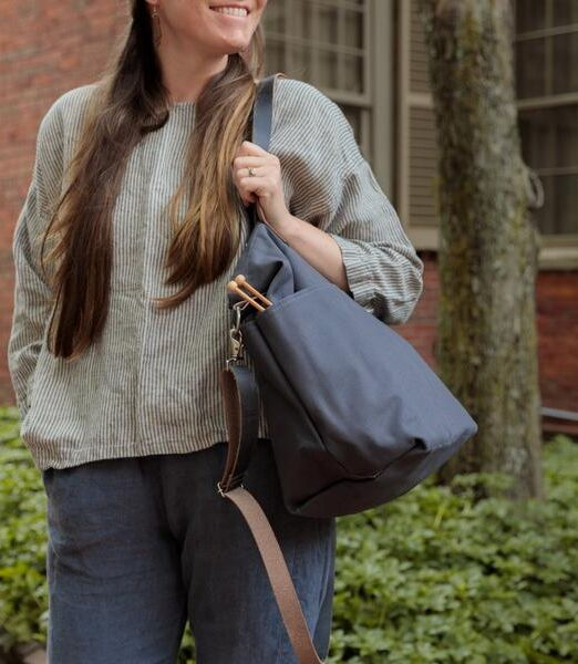 Twig_and_Horn_charcoal_Crossbody_Tote