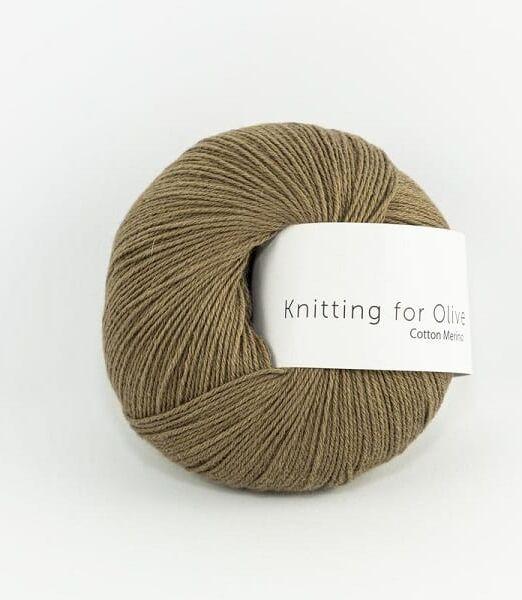 Knittingforolive_lofotstrikk_cottonmerino_nottebrun